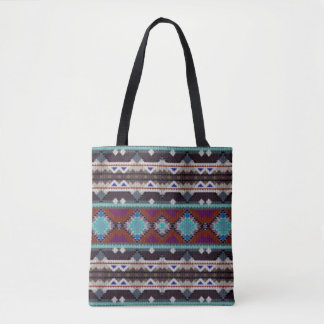 Bohemian ornament in ethno-style, Aztec Tote Bag