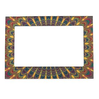 Bohemian oval mandala magnetic frame