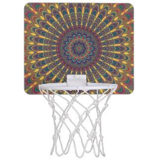 Bohemian oval mandala mini basketball hoop