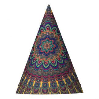 Bohemian oval mandala party hat
