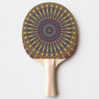 Bohemian oval mandala ping pong paddle