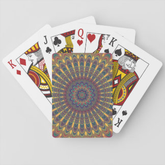 Bohemian oval mandala playing cards