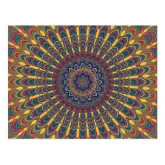 Bohemian oval mandala postcard