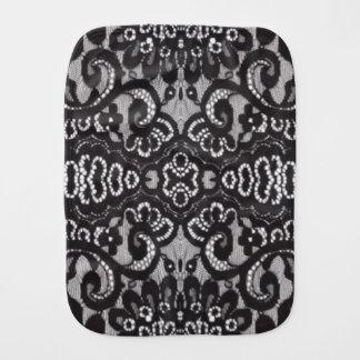 bohemian parisian floral victorian black lace burp cloth