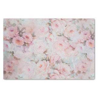 Bohemian pink teal vintage floral pattern tissue paper