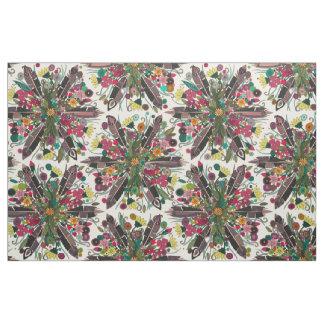 bohemian posy cream fabric
