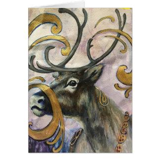 Bohemian Reindeer Card