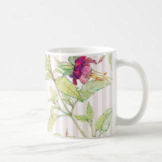 Bohemian Rose Garden | Floral Pattern White Mug