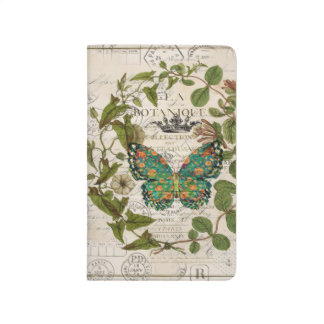 bohemian scripts french botanical butterfly journal