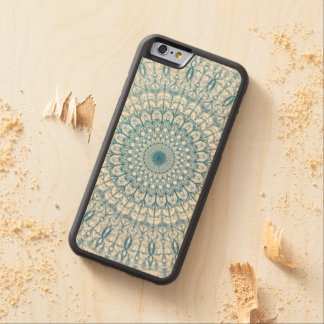 Bohemian Sky and Turquoise Blue Fractal Design Maple iPhone 6 Bumper Case