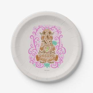 Bohemian Snuffleupagus Paper Plate