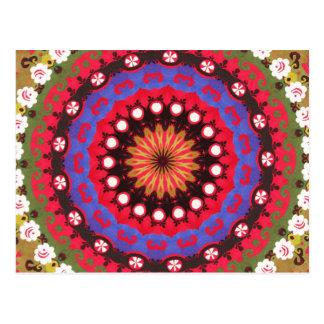 Bohemian Southwest Tribal Aztec pattern Postcard