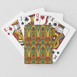 Bohemian Stained Glass Pattern Playing Cards