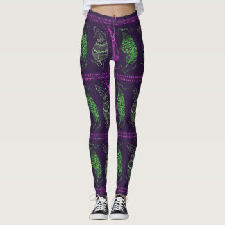 Bohemian Style Feather Leggings