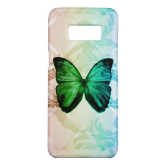 Bohemian swirls rainbow colors teal butterfly Case-Mate samsung galaxy s8 case