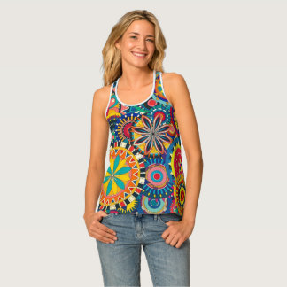 Bohemian Tank Top Racer Back Gears and Gadgets