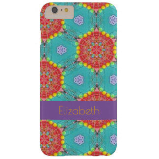 Bohemian Teal and Orange Spirograph Barely There iPhone 6 Plus Case