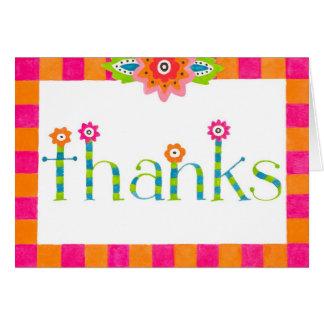 Bohemian Thanks Card