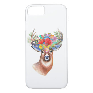 Bohemian Theme Majestic Stag Phone Case