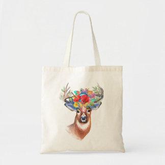 Bohemian Theme Majestic Stag Tote Bag