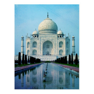 Bohemian travel India Agra Vintage Taj Mahal Postcard