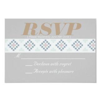Bohemian Tribal | North Western Pastel | RSVP Card 9 Cm X 13 Cm Invitation Card
