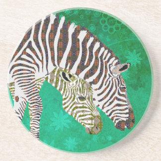 Bohemian Zebra Coaster