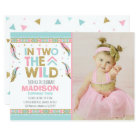Boho 2nd Birthday Invitation In Two The Wild Party
