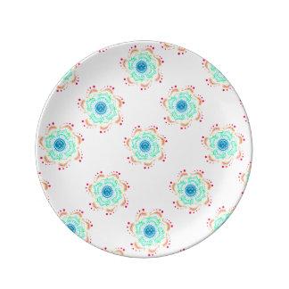 "Boho 8.5"" Decorative Porcelain Plate"