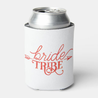 Boho Arrow Bride Tribe Can Cooler
