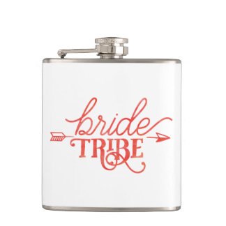 Boho Arrow Bride Tribe Flask