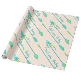 Boho Arrows Baby Shower Gift Wrapping Paper
