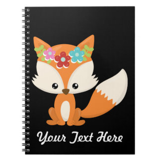 Boho Autumn Fox Notebooks