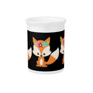 Boho Autumn Fox Pitcher