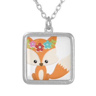 Boho Autumn Fox Silver Plated Necklace
