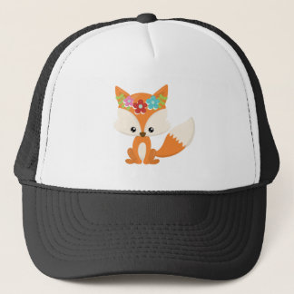 Boho Autumn Fox Trucker Hat