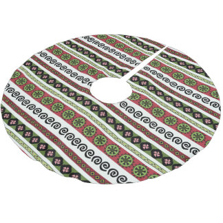 Boho Aztec Pattern Modern Holiday Brushed Polyester Tree Skirt