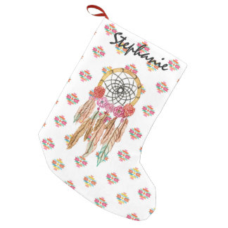 Boho Aztec Watercolor Native American Dreamcatcher