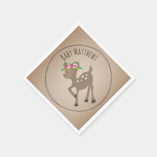 Boho Baby Deer Baby Shower Napkins Paper Napkin