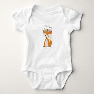 Boho Baby Fox Personalized Baby Bodysuit