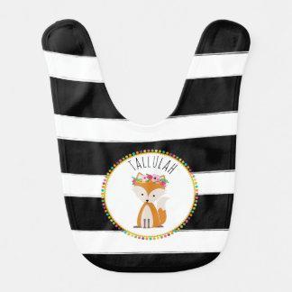 Boho Baby Fox Pompom Inspired Personalized Bib