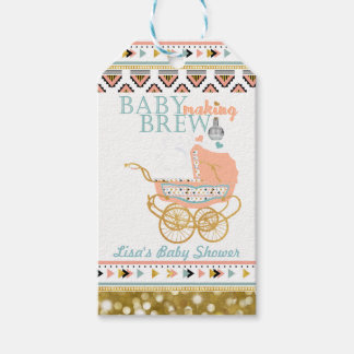 Boho Baby Making Brew Favor Tag