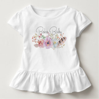 Boho Baby Ruffled Toddler Tee