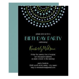 Boho Bali Turquoise Black Birthday 2 Card