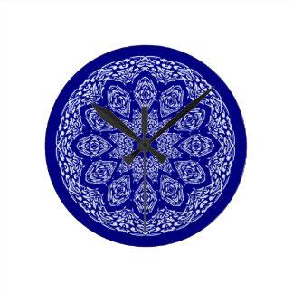 Boho Bazaar Cobalt Pattern Wallclock