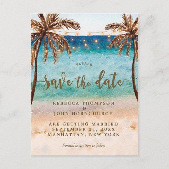 boho beach wedding save the date postcard r210748a196b54d7b9b38640c1c455fc3 b8ubx 540 - beach wedding save the date