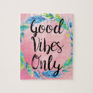Boho Beautiful Good Vibes Only Puzzle