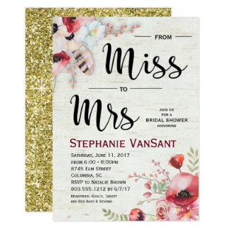 Boho Birch Bridal Shower Invitation 5x7