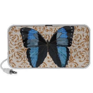 Boho Blue Butterfly Doodle Speaker