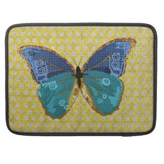 Boho Blue Butterfly Mac Book Sleeve MacBook Pro Sleeve